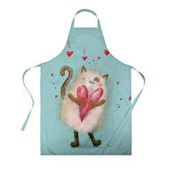 Фартук кулинарный Котик цвета 3D — фото 1