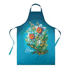 Фартук кулинарный 8 марта ретро цвета 3D — фото 1