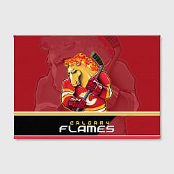 Холст прямоугольный Calgary Flames цвета 3D-принт — фото 2