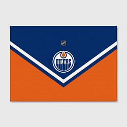 Холст прямоугольный NHL: Edmonton Oilers цвета 3D-принт — фото 2