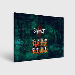 Холст прямоугольный Группа Slipknot цвета 3D-принт — фото 1