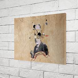 Холст прямоугольный Зигмунд Фрейд цвета 3D-принт — фото 2