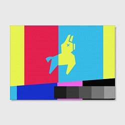 Холст прямоугольный Цветная Лама цвета 3D-принт — фото 2