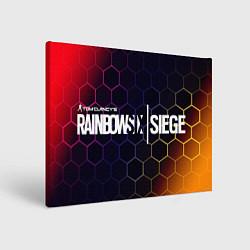 Холст прямоугольный RAINBOW SIX SIEGE РАДУГА 6 цвета 3D-принт — фото 1
