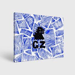Холст прямоугольный Годзилла цвета 3D-принт — фото 1
