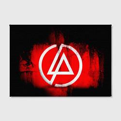 Холст прямоугольный Linkin Park: Red style цвета 3D — фото 2