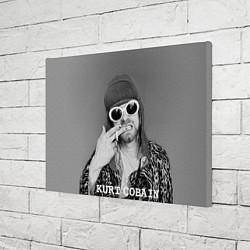 Холст прямоугольный Кобейн в очках цвета 3D — фото 2
