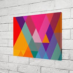Холст прямоугольный Разноцветные полигоны цвета 3D — фото 2