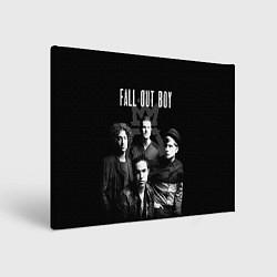 Холст прямоугольный Fall out boy band цвета 3D — фото 1