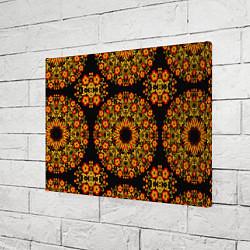 Холст прямоугольный Хохлома Роспись цвета 3D — фото 2