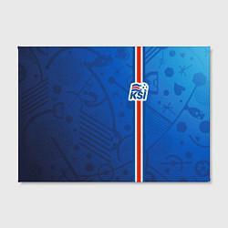 Холст прямоугольный Сборная Исландии по футболу цвета 3D-принт — фото 2