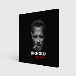 Холст квадратный Arnold forever цвета 3D-принт — фото 1