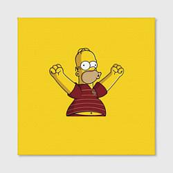 Холст квадратный Гомер-болельщик цвета 3D-принт — фото 2