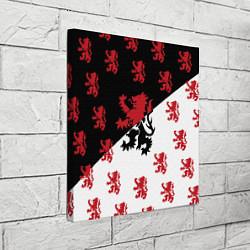 Холст квадратный Лев герба Нидерландов цвета 3D-принт — фото 2