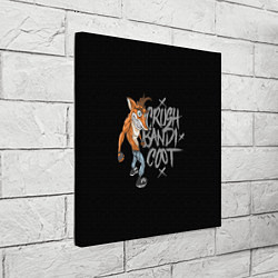 Холст квадратный Crush Bandicoot цвета 3D-принт — фото 2