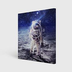 Холст квадратный Starfield: Astronaut цвета 3D-принт — фото 1