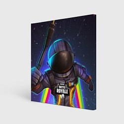 Холст квадратный Fortnite: Space Rainbow цвета 3D — фото 1