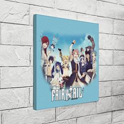 Холст квадратный FAIRY TAIL ХВОСТ ФЕИ цвета 3D-принт — фото 2