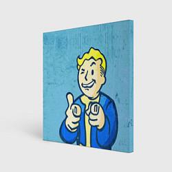 Холст квадратный Fallout: It's okey цвета 3D — фото 1