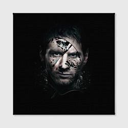 Холст квадратный Messi Black цвета 3D-принт — фото 2