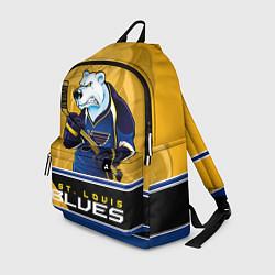 Рюкзак St. Louis Blues цвета 3D-принт — фото 1