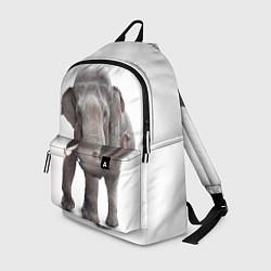 Рюкзак Большой слон цвета 3D-принт — фото 1