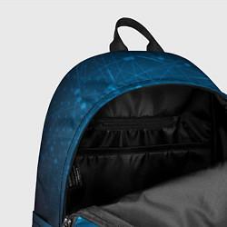 Рюкзак Bitcoin Blue цвета 3D — фото 2