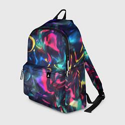 Рюкзак Неоновая вода цвета 3D — фото 1