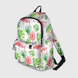 Рюкзак Фламинго в тропиках цвета 3D-принт — фото 1