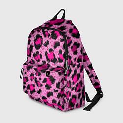 Рюкзак Розовый леопард цвета 3D — фото 1