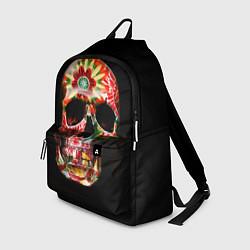 Рюкзак Расписной череп цвета 3D — фото 1