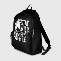 Рюкзак Stay wild and free цвета 3D — фото 1