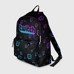 Рюкзак Twitch: Neon Style цвета 3D-принт — фото 1