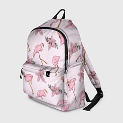 Рюкзак Розовый фламинго цвета 3D — фото 1