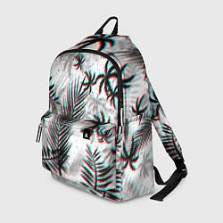 Рюкзак ПАЛЬМЫ TROPICAL GLITCH цвета 3D-принт — фото 1