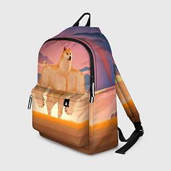 Рюкзак Мем собака качок DOGE цвета 3D — фото 1