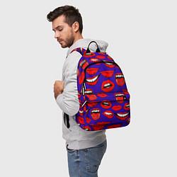 Рюкзак Губы цвета 3D-принт — фото 2