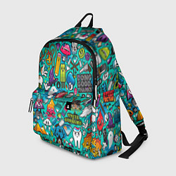 Рюкзак Стикербомбинг цвета 3D-принт — фото 1