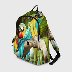 Рюкзак Попугаи на ветке цвета 3D — фото 1