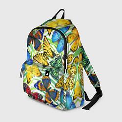 Рюкзак Тропические бабочки цвета 3D-принт — фото 1