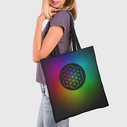 Сумка-шопер Coldplay Colour цвета 3D-принт — фото 2
