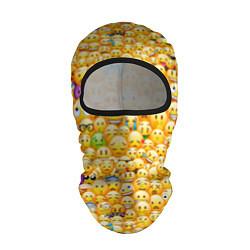 Балаклава Смайлики Emoji цвета 3D-черный — фото 1
