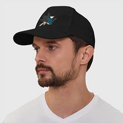 Бейсболка San Jose Sharks цвета черный — фото 1
