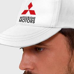 Бейсболка Mitsubishi цвета белый — фото 2