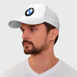 Бейсболка Logo BMW цвета белый — фото 1