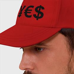 Бейсболка YE$ цвета красный — фото 2