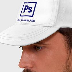 Бейсболка Photoshop цвета белый — фото 2