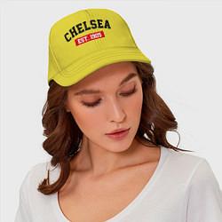 Бейсболка FC Chelsea Est. 1905 цвета желтый — фото 2