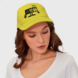 Бейсболка Игроман цвета желтый — фото 2