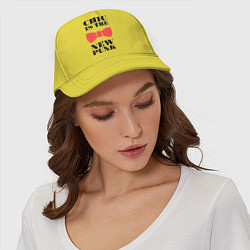 Бейсболка Chic is the new punk цвета желтый — фото 2